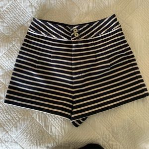 Marc by Marc Jacobs - Navy and White Stripe Shorts